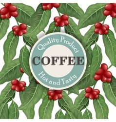 Coffee tree Coffee design template vector image vector image