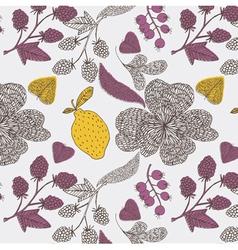 lemon tree abstract vector image vector image