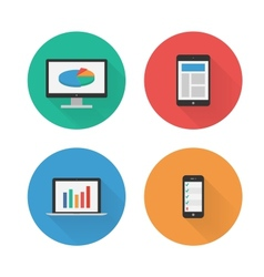 Responsive Design Flat Icons Set vector image vector image