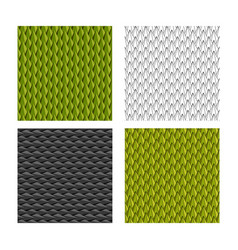 seamless durian and animal scale pattern vector image