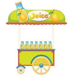 A wooden juice cart vector image vector image