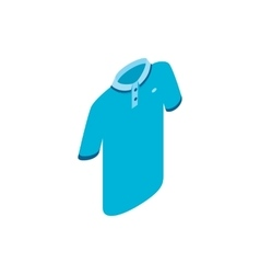 Blue men polo shirt icon isometric 3d style vector image vector image