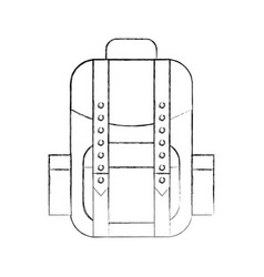 camping bag isolated icon vector image