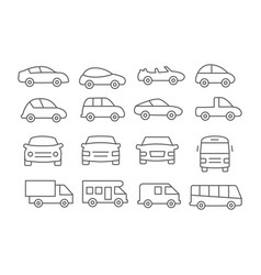 car line icons vector image vector image