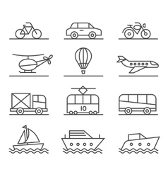 City transport icons set vector image