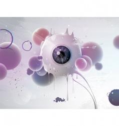 human eye abstract vector image vector image