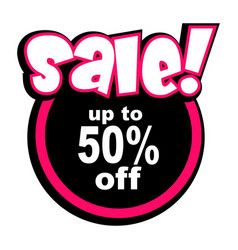 sale text icon vector image