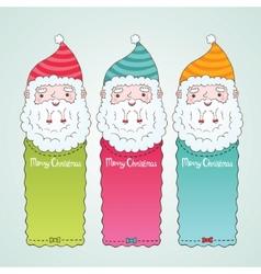 Santa Claus and Christmas banner set vector image vector image