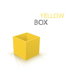 Yellow Box isolated on white background vector image vector image