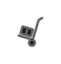 airport luggage trolley travel icon transport vector image
