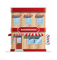 barbershop building vector image