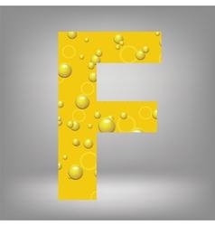 beer letter F vector image
