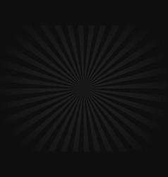 black retro sunbeams background vector image