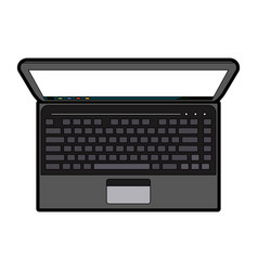 blank screen laptop computer icon image vector image