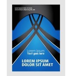 Blue flyer or cover design business vector