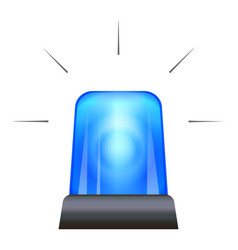 blue police flasher icon cartoon style vector image