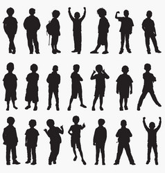 boy silhouettes vector image