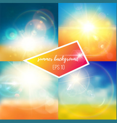 Bright bluish summer backgrounds vector
