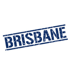 Brisbane blue square stamp vector