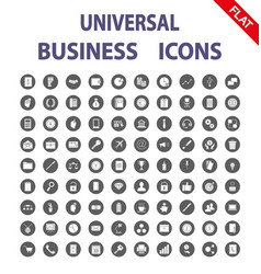 business universal icons flat vector image