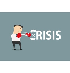Businessman breaks the crisis vector image