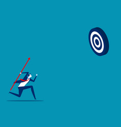 Businessman shooting aim target concept business vector