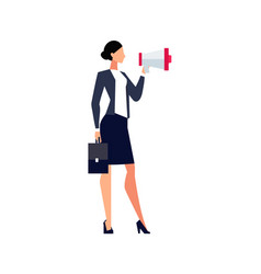 businesswoman with megaphone vector image