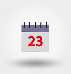 calendar flat icon vector image