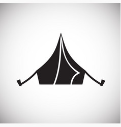 Camping tent icon on white background for graphic vector