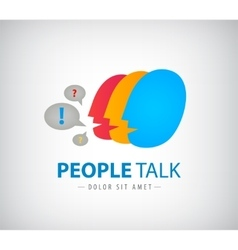 colorful people chat logo icon vector image