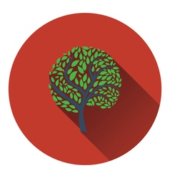 Ecological tree with leaves icon vector image