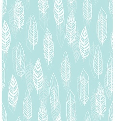 Ethnic seamless pattern with Feathers vector image vector image