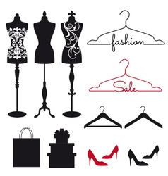 Fashion mannequins set vector
