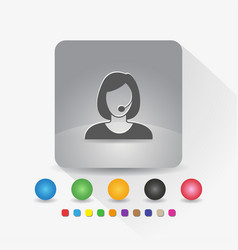 female customer service icon sign symbol app in vector image