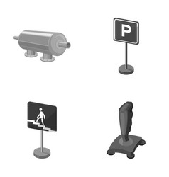 Filter traffic sign and other monochrome icon in vector