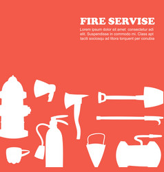 fire emergency and fire protection vector image