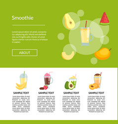 Flat color smoothie page template vector