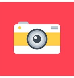 Flat design photo camera vector