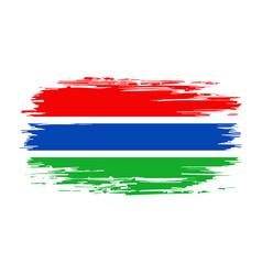 gambian flag brush grunge background vector image