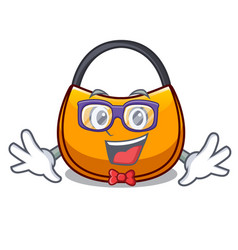 Geek beautifully hobo bag on character funny vector