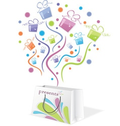 gifts from package vector image