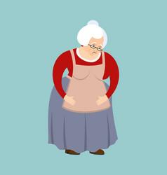 Grandmother sad emoji face grandma sorrowful vector