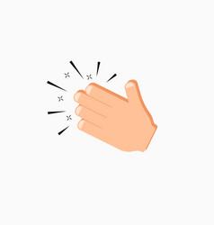 Hands clap icon vector