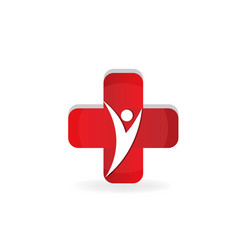 health cross medical symbol design vector image