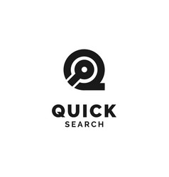 initial q with search icon logo design inspiration vector image