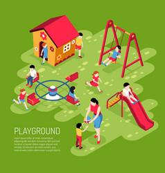 kindergarten play ground isometric vector image