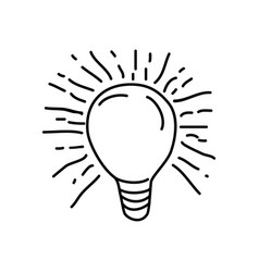 lamp icon doodle hand drawn or outline icon style vector image