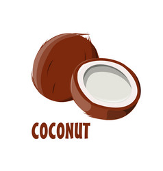 logo coconut farm design vector image