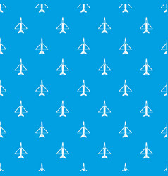 military aircraft pattern seamless blue vector image