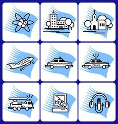 Misc icon set vector